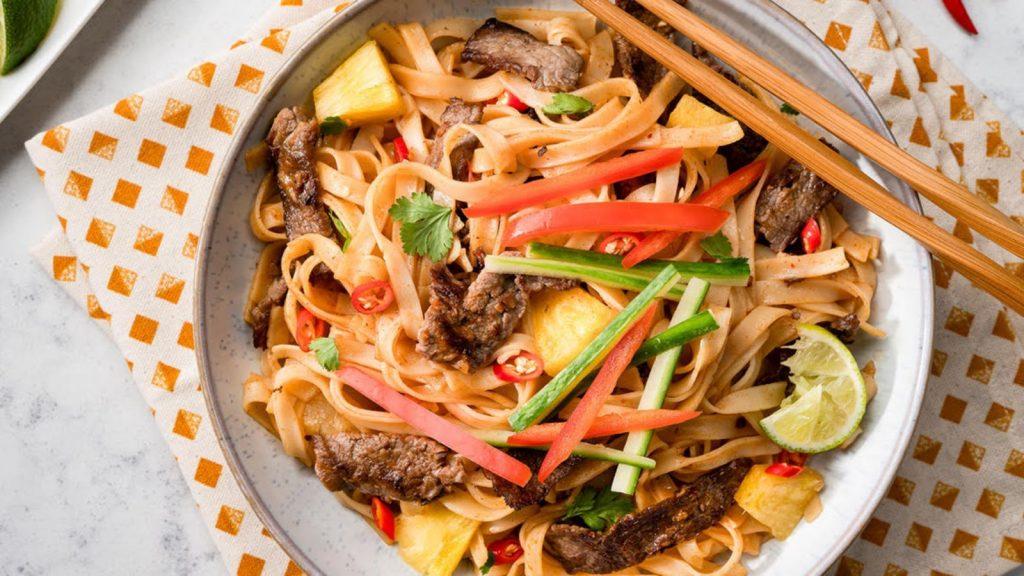 Beef Pineapple Noodles